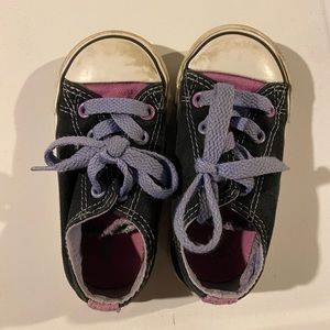 Girls Converse black and purple toddler 6